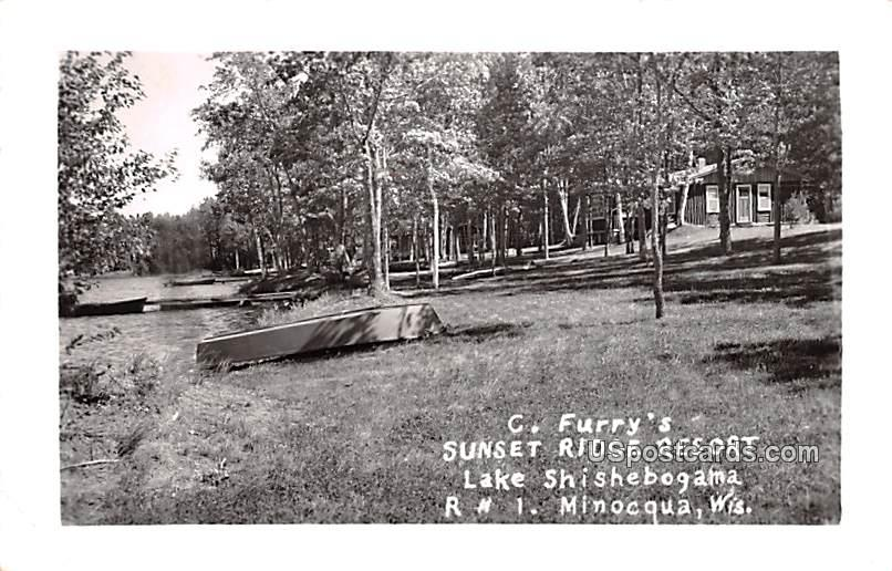 C Furry's Sunset Ridge Resort - Mincoqua, Wisconsin WI Postcard