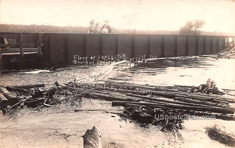 Flood of Sept 1912 - Merrill, Wisconsin WI Postcard
