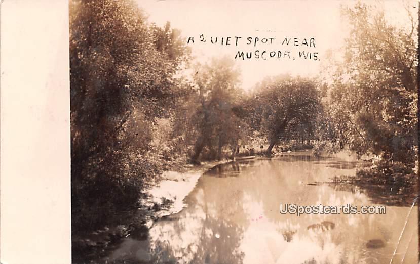 Quiet Spot - Muscoda, Wisconsin WI Postcard
