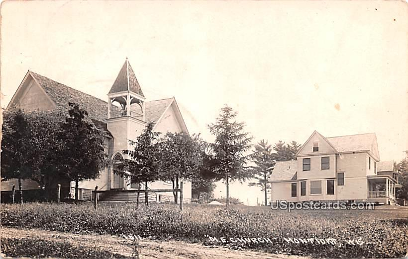 ME Church - Montfort, Wisconsin WI Postcard