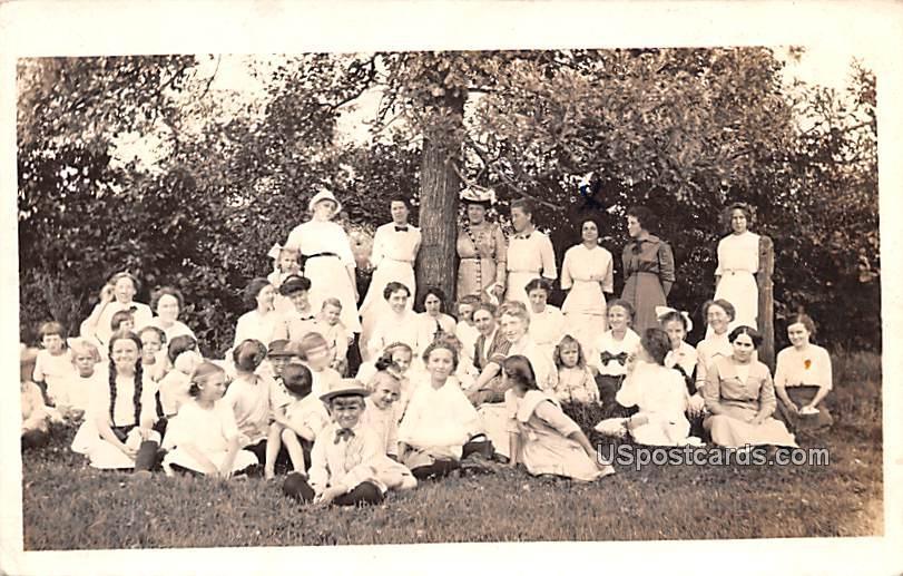 Group of Children - Merrill, Wisconsin WI Postcard