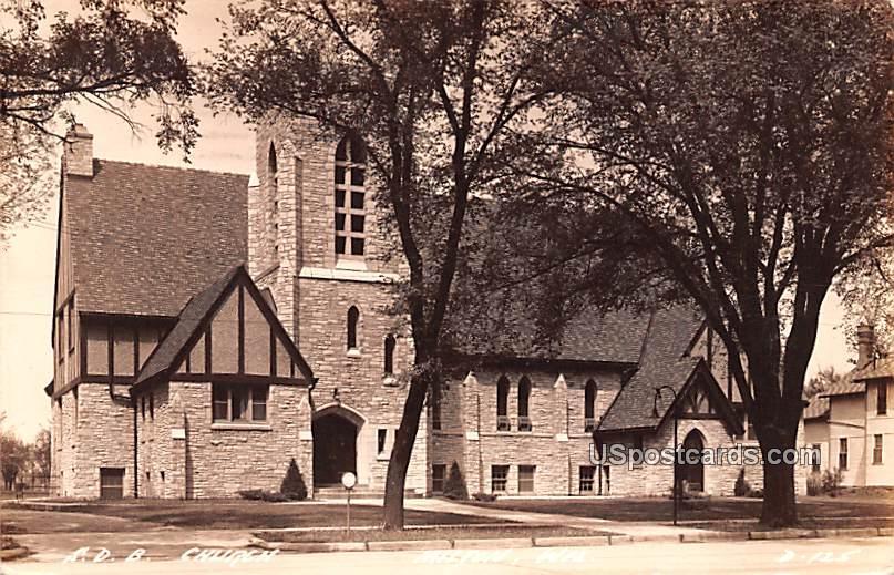 SDB Church - Milton, Wisconsin WI Postcard