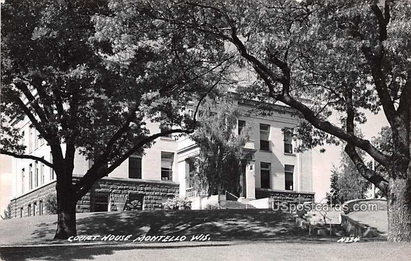 Court House - Montello, Wisconsin WI Postcard