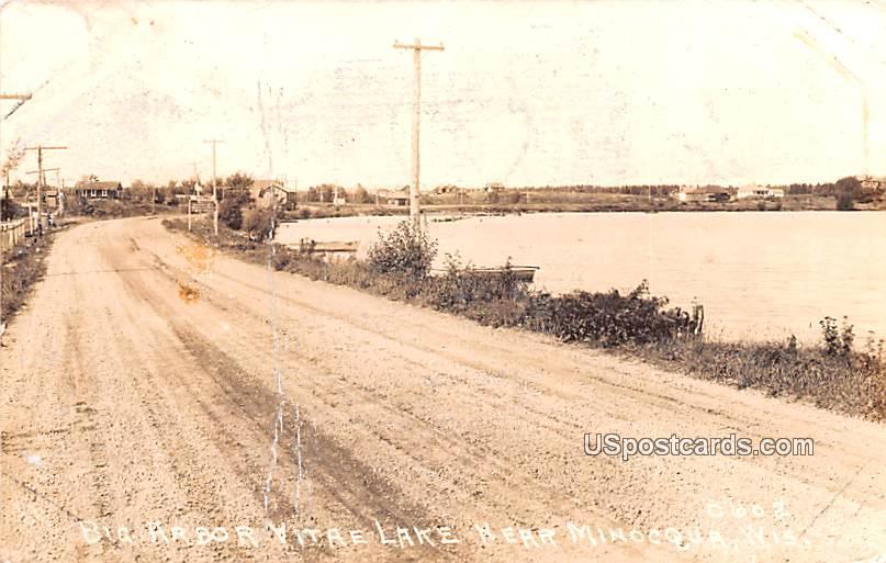 Big Harbor Viate Lake - Minocqua, Wisconsin WI Postcard