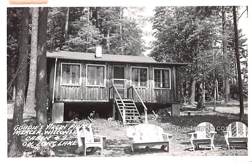Goudie's Virgin Pines - Mercer, Wisconsin WI Postcard