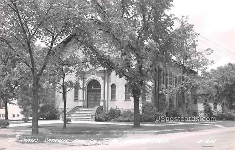 St James Catholic Church - Mukwonago, Wisconsin WI Postcard