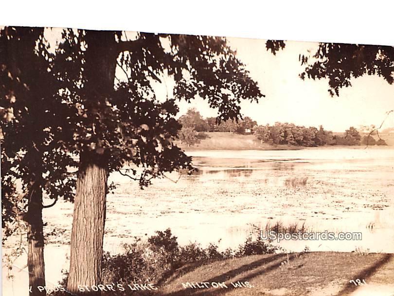Storr's Lake - Milton, Wisconsin WI Postcard