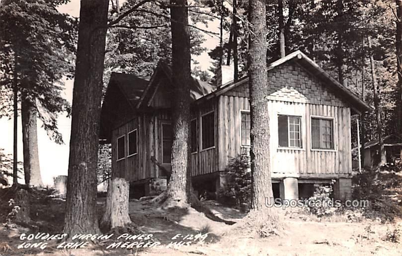 Goudies Virgin Pines - Mercer, Wisconsin WI Postcard