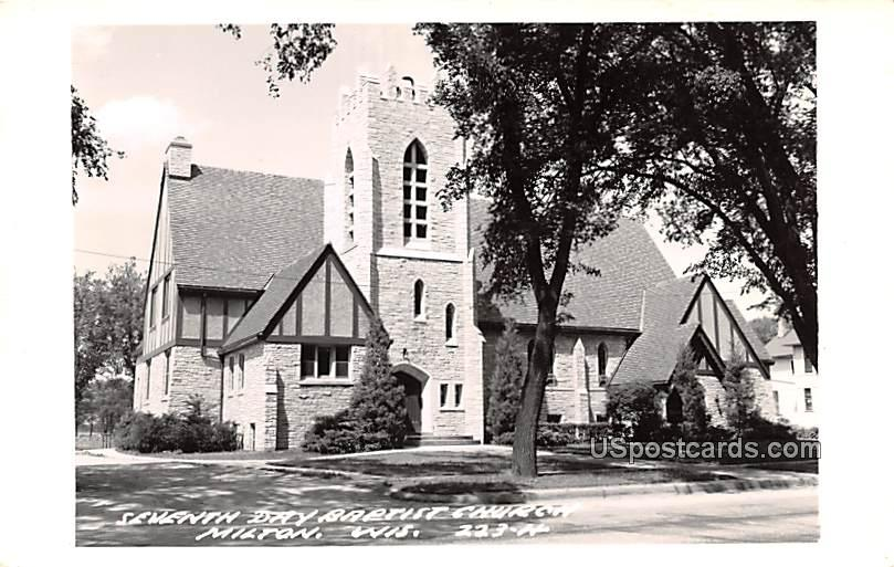 Seventh Day Baptist Church - Milton, Wisconsin WI Postcard
