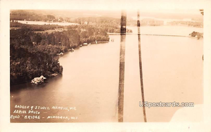 Aerial Photo - Minooqua, Wisconsin WI Postcard
