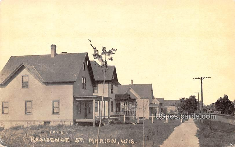 Residence Street - Marion, Wisconsin WI Postcard