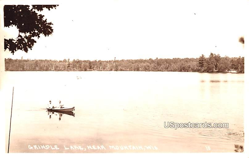 Grindle Lake - Mountain, Wisconsin WI Postcard