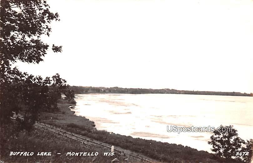 Buffalo Lake - Montello, Wisconsin WI Postcard
