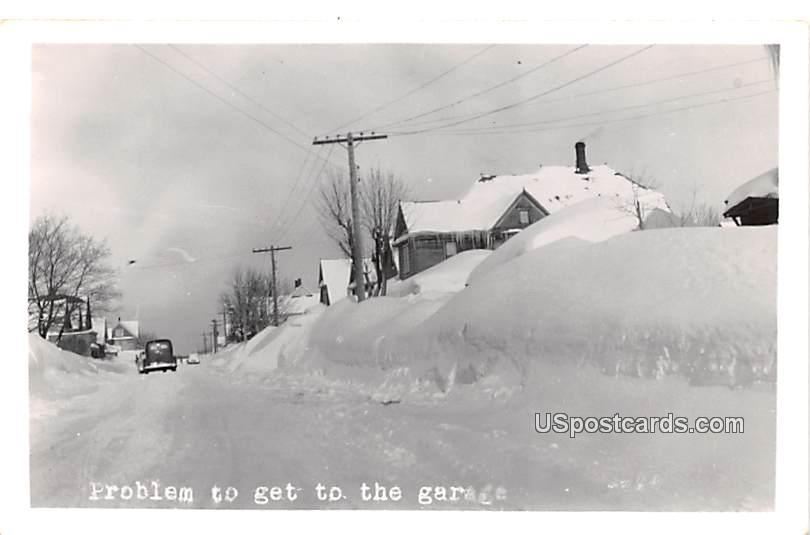 Problem to get to the Garage - MIlwaukee, Wisconsin WI Postcard