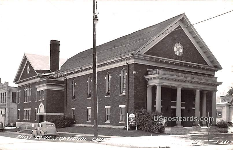First Congregational Church - Menasha, Wisconsin WI Postcard