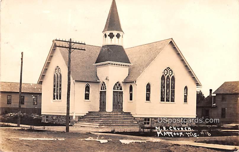 ME Church - Mattoon, Wisconsin WI Postcard