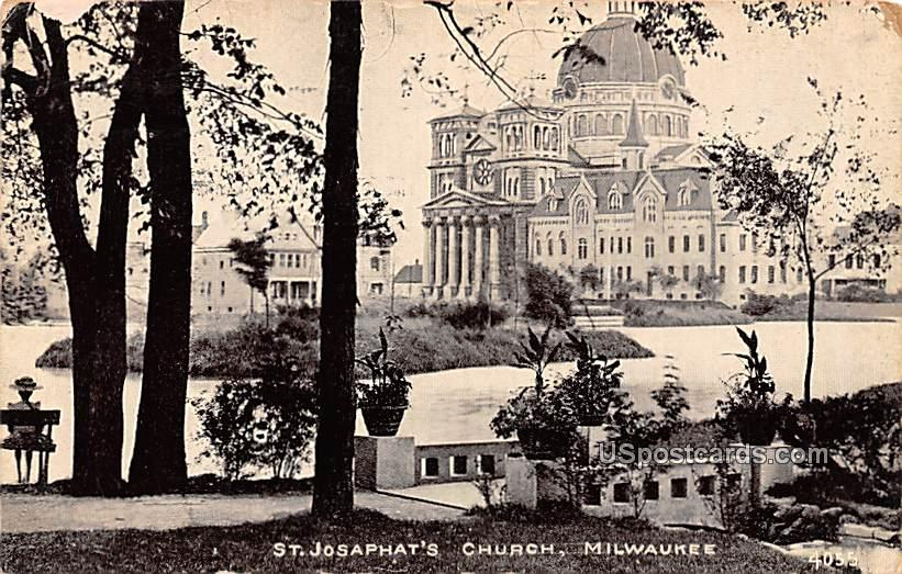 St Josaphat's Church - MIlwaukee, Wisconsin WI Postcard
