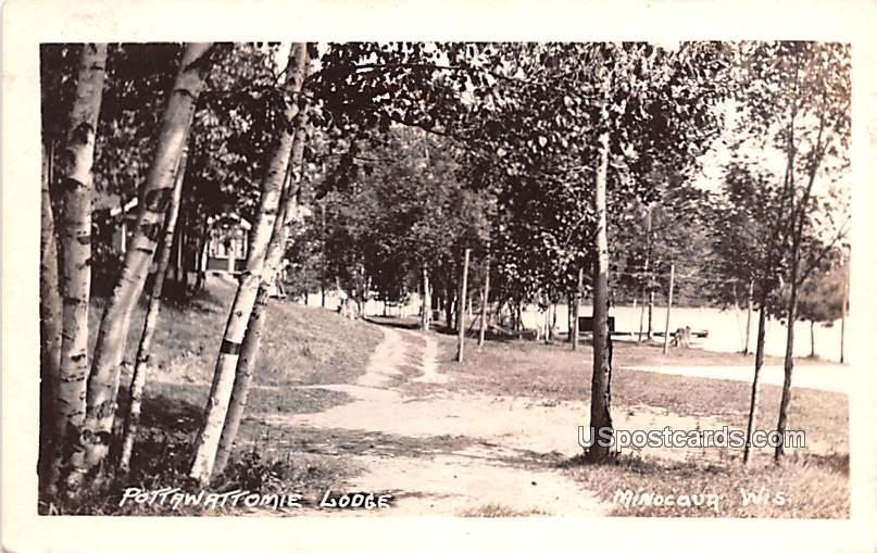 Pottawattomie Lodge - Minocaua, Wisconsin WI Postcard