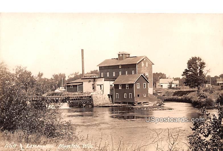 Mill and Lemonweis - Mauston, Wisconsin WI Postcard