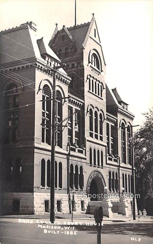 Dane County Court House - Madison, Wisconsin WI Postcard
