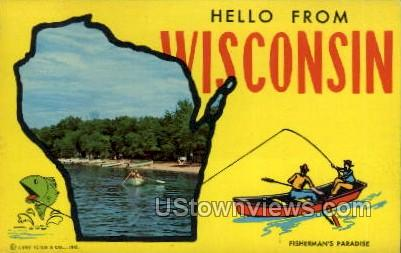 Greetings From - Misc, Wisconsin WI Postcard