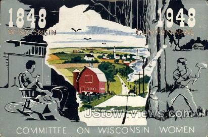 Committee on Wisconsin Women - Misc Postcard
