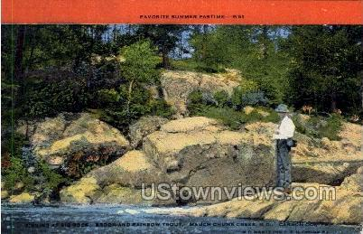 Mauch Chunk Creek - Misc, Wisconsin WI Postcard