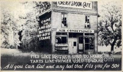 Greasy Spoon Caf»  - Misc, Wisconsin WI Postcard