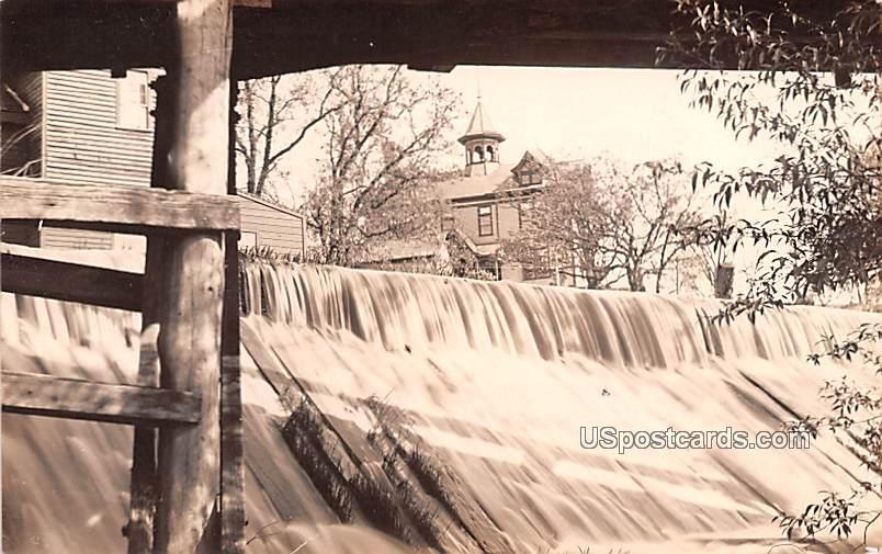 Waterfall & Dam - Misc, Wisconsin WI Postcard