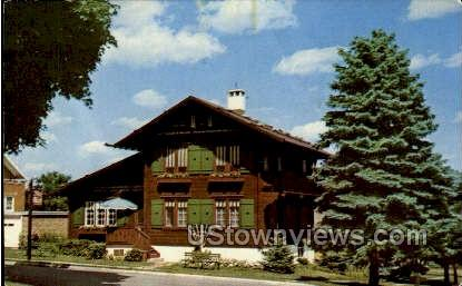 Chalet Of The Golden Fleece - New Glarus, Wisconsin WI Postcard