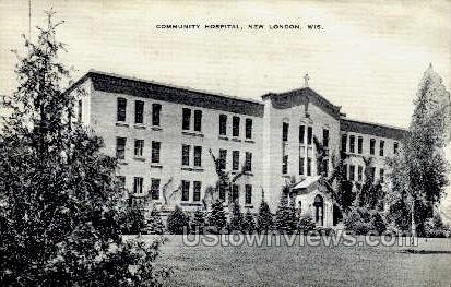 Community Hospital - New London, Wisconsin WI Postcard