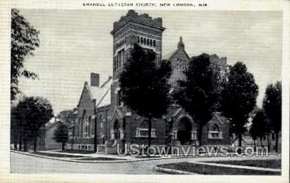 Emanuel Lutheran Church - New London, Wisconsin WI Postcard