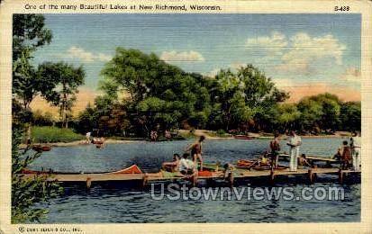 Beautiful Lakes  - New Richmond, Wisconsin WI Postcard