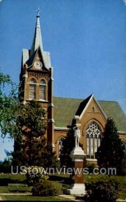 Swiss Reformed Church - New Glarus, Wisconsin WI Postcard