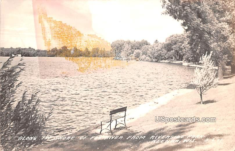 Along the Shore of the River - Neenan, Wisconsin WI Postcard