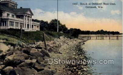 Beach At Oshkosh - Wisconsin WI Postcard