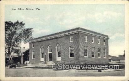 Post Office - Oconto, Wisconsin WI Postcard