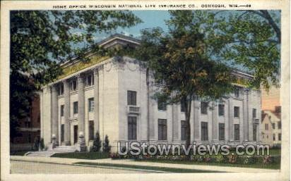 Wisconsin National Life Insurance Co. - Oshkosh Postcard