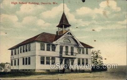 High School Building - Oshkosh, Wisconsin WI Postcard