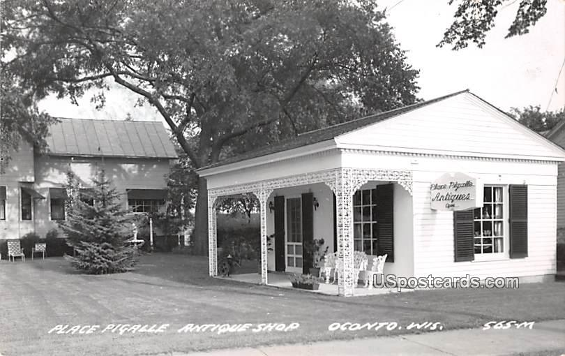 Place Pigalle Antique Shop - Oconto, Wisconsin WI Postcard