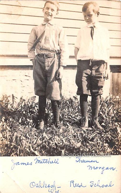 James Mitchell and Sherman Morgan - Oshkosh, Wisconsin WI Postcard