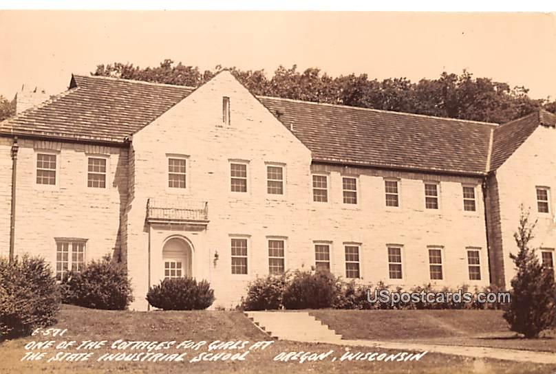 One of the Cottages for Girls - Oregon, Wisconsin WI Postcard
