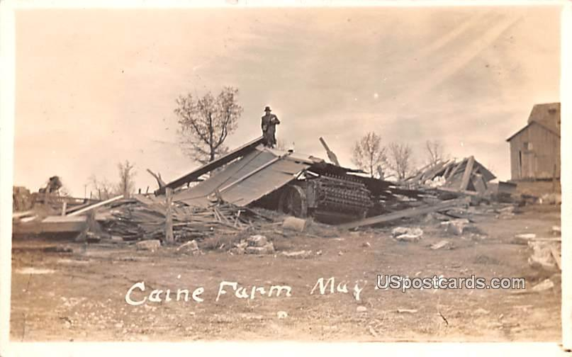 Caine Farm May 11, 1914 - Orlcon, Wisconsin WI Postcard