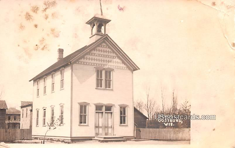 School - Oostburg, Wisconsin WI Postcard