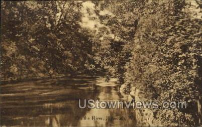 On The River - Plymouth, Wisconsin WI Postcard