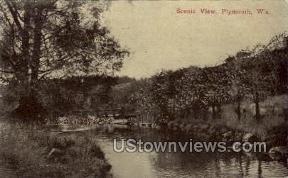Scenic View - Plymouth, Wisconsin WI Postcard