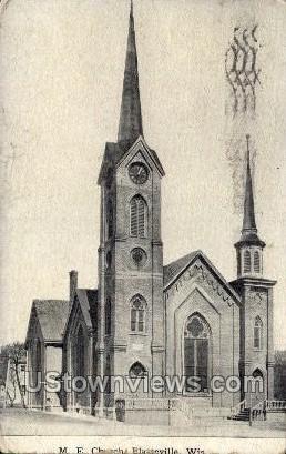 Church - Platteville, Wisconsin WI Postcard