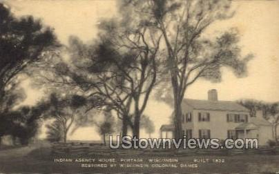Indian Agency House - Portage, Wisconsin WI Postcard
