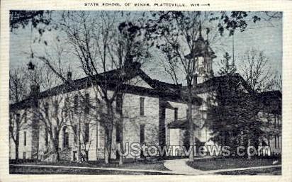 State School Of Mines - Platteville, Wisconsin WI Postcard
