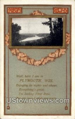 . - Plymouth, Wisconsin WI Postcard